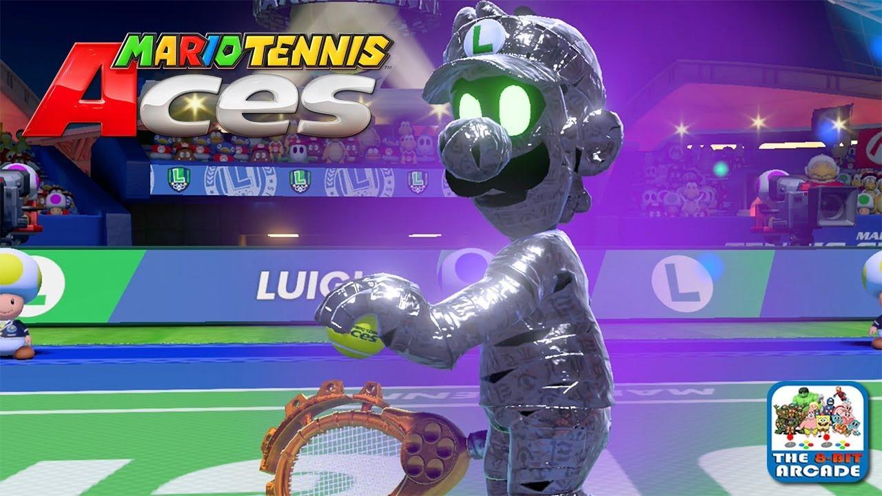 Mario Tennis Aces Mario Has To Beat Luigi In Order To Save Luigi Switch Gameplay