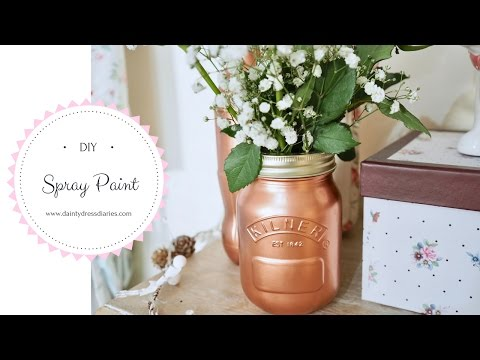Copper spray paint DIY using Rustoleum Metallic spray paint.