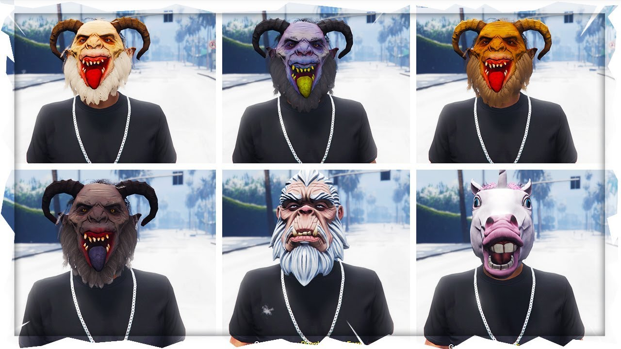 Gta 5 Online Christmas Masks.Gta 5 Online New How To Get All Unobtainable Christmas Mask In Gta 5 Online Rare Masks Glitch