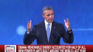 Obama says climate change a challenge and