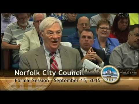 Formal 09/15/15 Session - Norfolk City Council