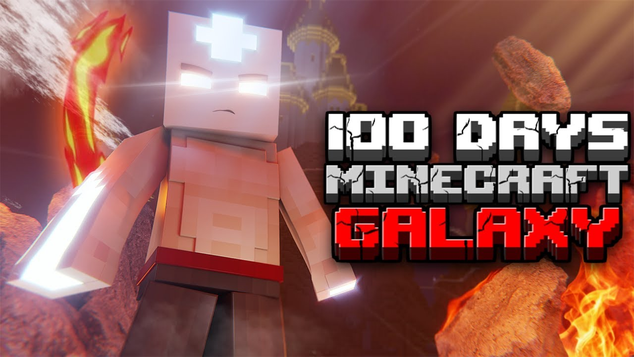 I Survived 100 Days as the AVATAR in Hardcore Minecraft