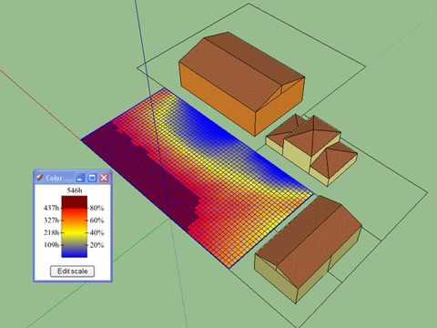 orientation exposition ensoleillement maison simulation ombres port es sur un terrain. Black Bedroom Furniture Sets. Home Design Ideas