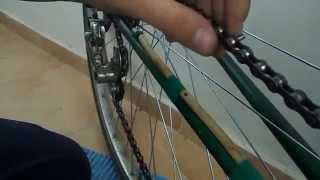 Как заменить цепь на велосипеде(На данном видео показано как легко и просто поменять цепь на велосипеде., 2015-08-20T14:13:26.000Z)