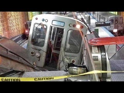 Accident de train spectaculaire à Chicago