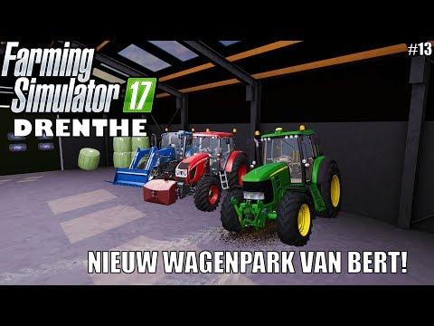 'NIEUW WAGENPARK VAN BERT!' Farming Simulator 17 Drenthe #13