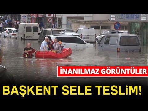 Ankara'da Sel Baskınları, Mahsur Kalanlar Bot İle Kurtarıldı-iha