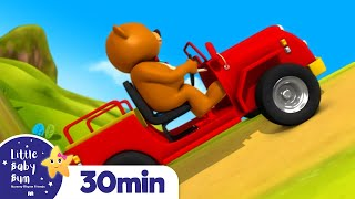 The Bear Went Over The Mountain | Kids Songs & Nursery Rhymes | ABC & 123 | Little Baby Bum