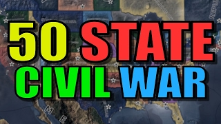 Hearts of Iron 4 USA Canada Civil War Gameplay AI Only Mod Lets Play Heart of Iron 4 Part 1