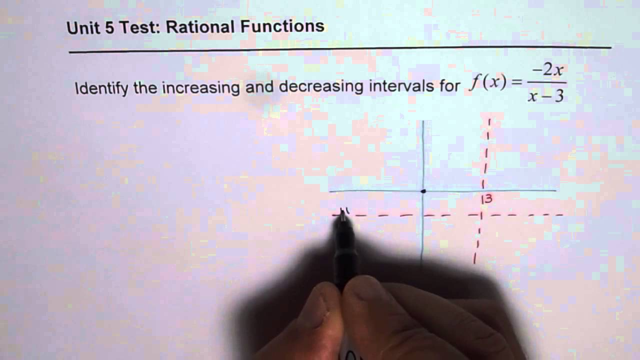 Find Interval of Increasing in a Rational Function Test