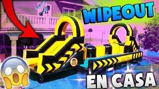 WIPEOUT HINCHABLE GIGANTE EN CASA!! LA BATALLA MAS EPICA