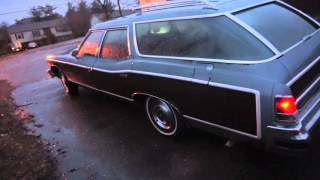 1976 Pontiac Grand Safari wagon -Walk around and drive