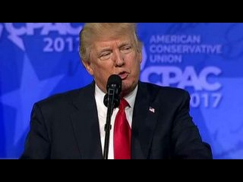 President Trump energizes the crowd at CPAC