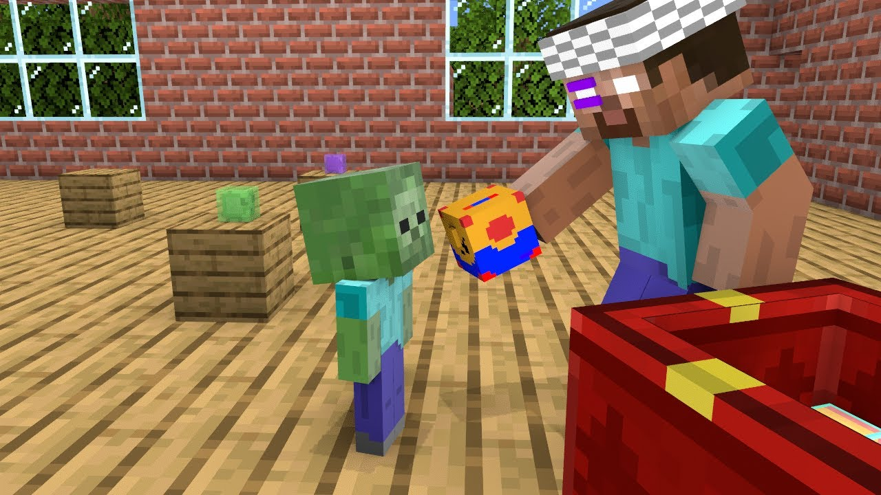 Monster School  Naughty Baby Monsters  Unboxing Challenge  Funny Minecraft Animation
