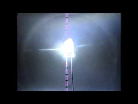 S128-10 Stück Flacker LEDs 3mm weiß klar Flackerlicht Flackerlichtsteuerung