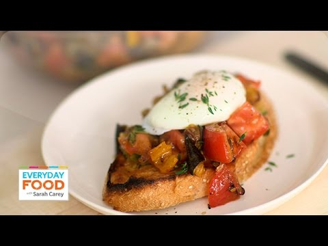 Crunchy Ratatouille and Poached Egg on Toast Eat Clean with Shira Bocar