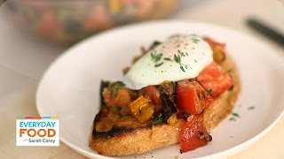 Crunchy Ratatouille And Poached Egg On Toast - Eat Clean With Shira Bocar