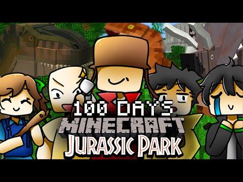 จะเกิดอะไรขึ้น!! เอาชีวิตรอด 100 วัน Jurassic Park กับเพื่อน 5 คน【Minecraft JurassiCraft】