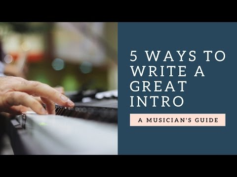 How to Write a Song Intro (Songwriting Secrets)