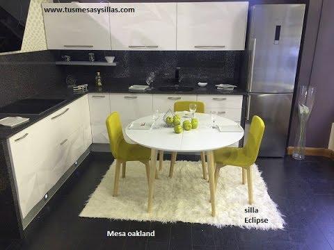 mesa redonda extensible Oakland de estilo nórdico - YouTube