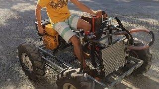Самодельный трактор с гидроприводом