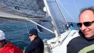 Sailing in Venice on 80 ft maxi yacht Weddell