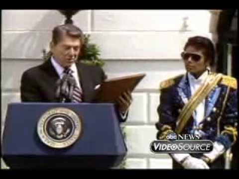 President Ronald Reagan Hosts Michael Jackson at the White House