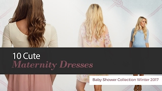Cute Maternity Dresses Baby Shower Collection Winter