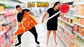 Download EATING ONLY GIANT FOODS FOR 24 HOURS! Mp3 and Videos