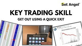 Key Betfair trading skill - Getting out of a  hole with a clean exit using Bet Angel