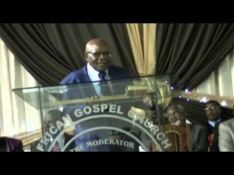 Moderator African Gospel Church AGC PE APRIL 2015 INGQONDO