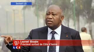 La dernière interview de Laurent Gbagbo avant son arrestation ( image LCI TV)