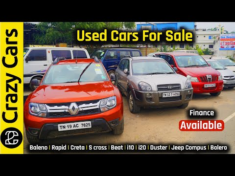 USED CARS FOR SALE |  i10 | i20 | Baleno | Duster,etc.,| SecondHand Cars In TamilNadu | Crazy Cars