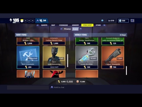 Fortnite Save The World STW - Weekly Item Store 24th January 2019