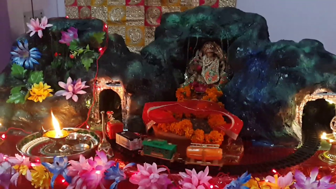 Navratri decoration at my home 2017 youtube for Navratri decorations at home