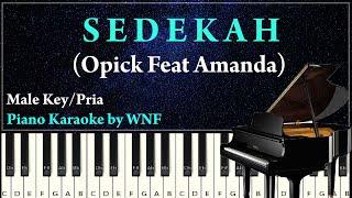 Opick Feat Amanda - Sedekah Piano Cover Karaoke Versi Pria