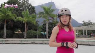 How to Skate Faster; Perfect your Regroup for an efficient  Skating Stride on inline skates.