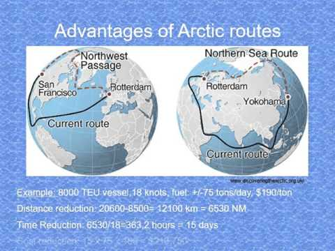Existing and alternative Arctic Routes