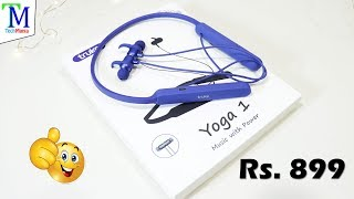 Truke Yoga 1 Neckband Wireless Bluetooth Earphones Unboxing & Review in Hindi | TF Card Support.