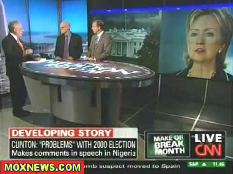 Hillary Clinton Comedian Calls Shenanigans On 2000 Election-What a laugh ha ha