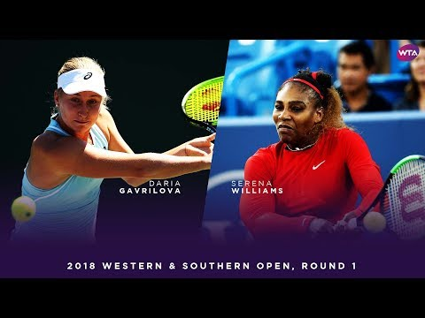 Daria Gavrilova vs. Serena Williams | 2018 Western & Southern Open Round One | WTA Highlights