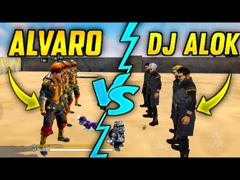 DJ ALOK VS ALVARO  FACTORY CHALLENGE | BEST 4 VS 4 WHO WILL WIN ?| #AJJUBHAI| #factoryfreefire A_s