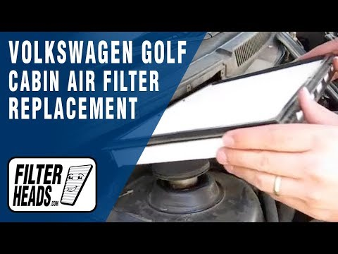 how to replace cabin air filter volkswagen golf youtube. Black Bedroom Furniture Sets. Home Design Ideas