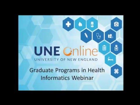 Webinar: UNE Online Graduate Programs in Health Informatics