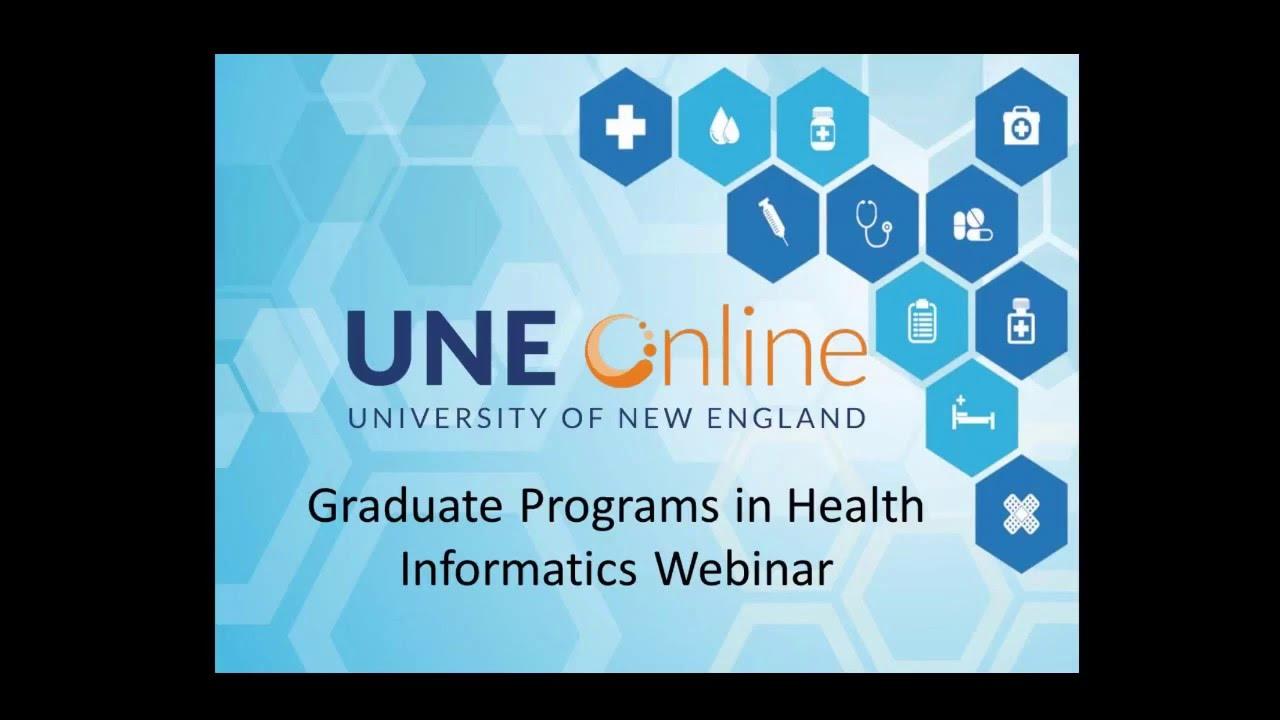 Webinar une online graduate programs in health informatics youtube webinar une online graduate programs in health informatics xflitez Choice Image