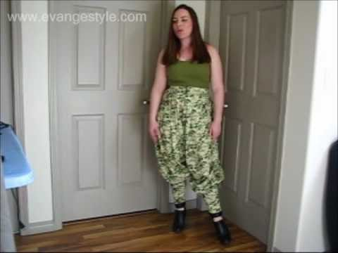 Sewing Tutorial How To Make Harem Pants Youtube