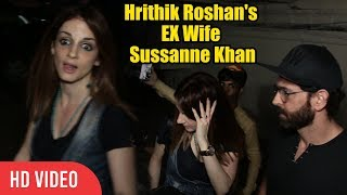 SPOTTED Hrithik Roshan With Ex Wife Sussanne Khan And Childrens | Watching Movie | PVR JUHU