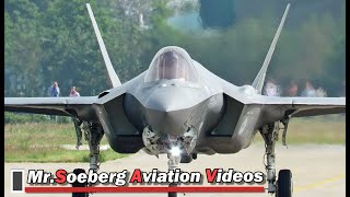 FULL POWER AFTERBURNER Departure F35 at Volkel thumbnail
