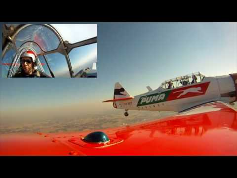 Flying over JHB in a Harvard (North American T-6 Texan)