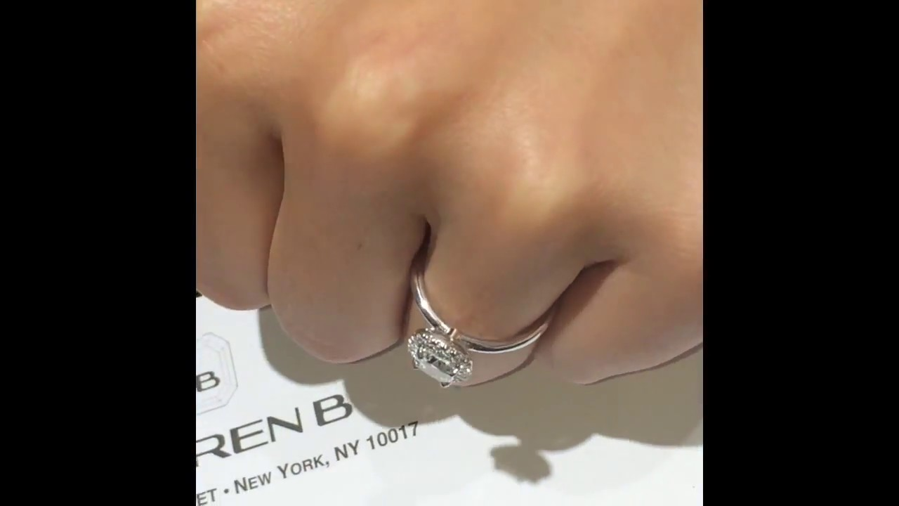 1 carat cushion cut diamond engagement ring youtube
